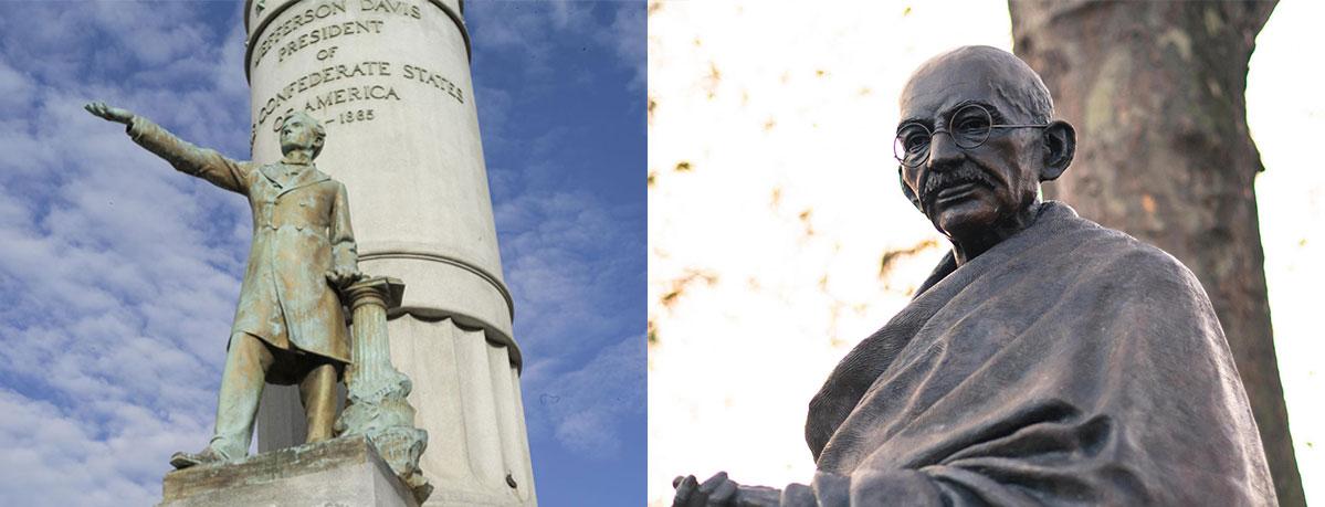 confederate racist and gandhi